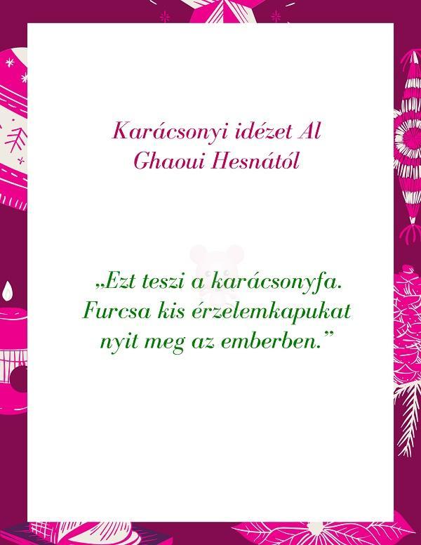 Karácsonyi idézet Al Ghaoui Hesnától