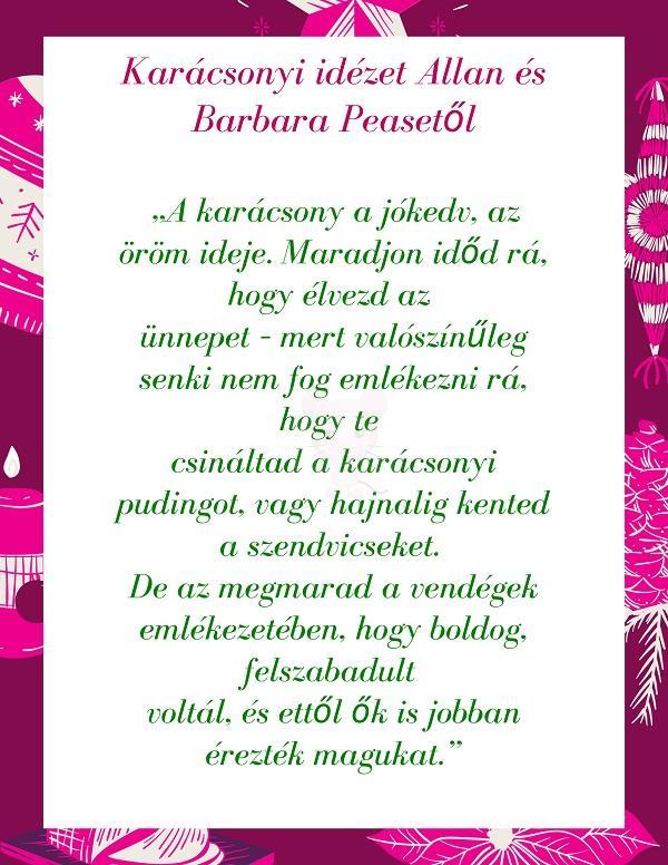Karácsonyi idézet Allan és Barbara Peasetől