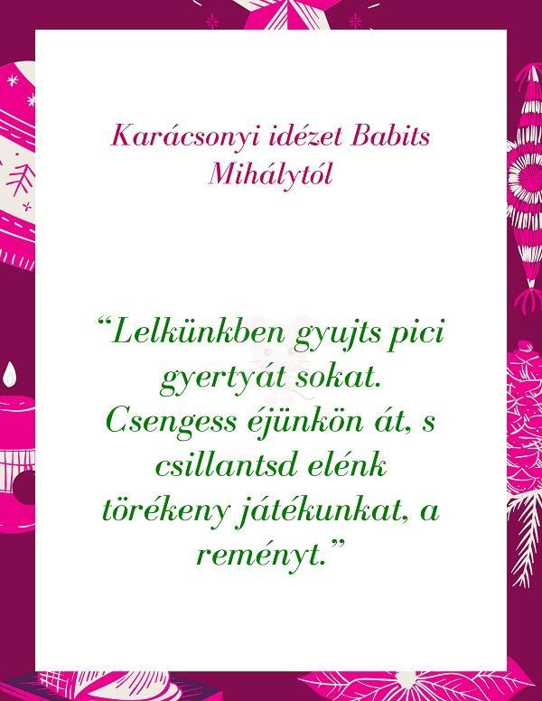 Karácsonyi idézet Babits Mihálytól