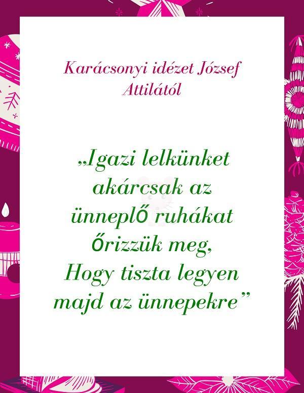 Karácsonyi idézet József Attilától