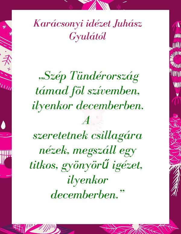 Karácsonyi idézet Juhász Gyulától