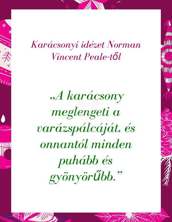 Karácsonyi idézet Norman Vincent Peale-től
