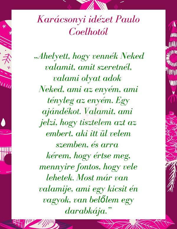 Karácsonyi idézet Paulo Coelhotól