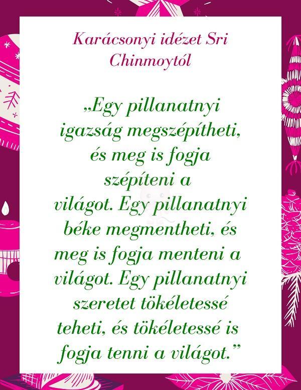 Karácsonyi idézet Sri Chinmoytól