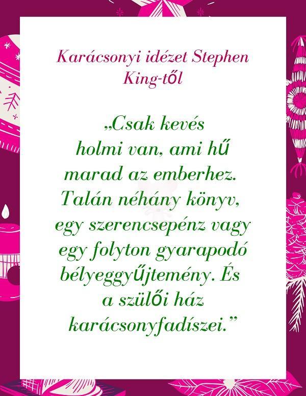 Karácsonyi idézet Stephen King-től