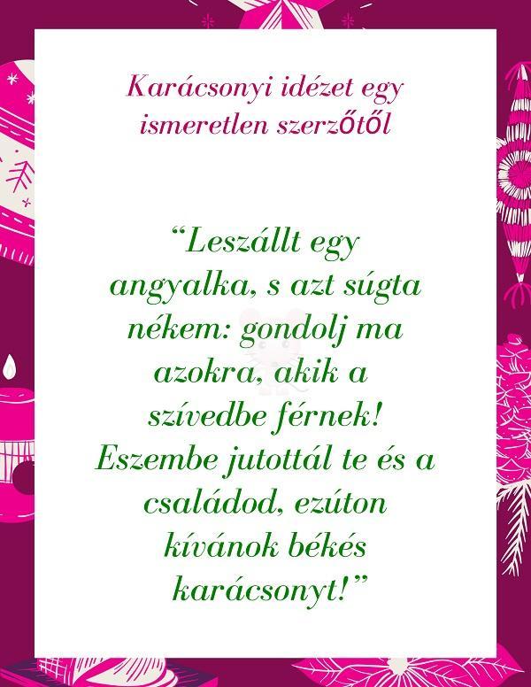 Karácsonyi idézet egy ismeretlen szerzőtől 2